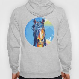 Horse Beauty - colorful animal portrait Hoody