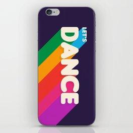 RAINBOW DANCE TYPOGRAPHY- let's dance iPhone Skin