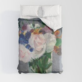 Edouard Manet - Flowers in a Crystal Vase Comforters