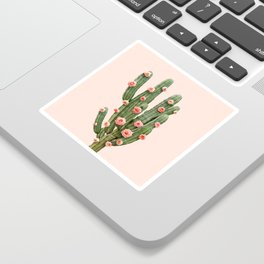 CACTUS AND ROSES Sticker