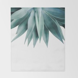 Agave fringe Throw Blanket