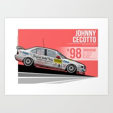 Johnny Cecotto - 1998 Nürburgring Art Print