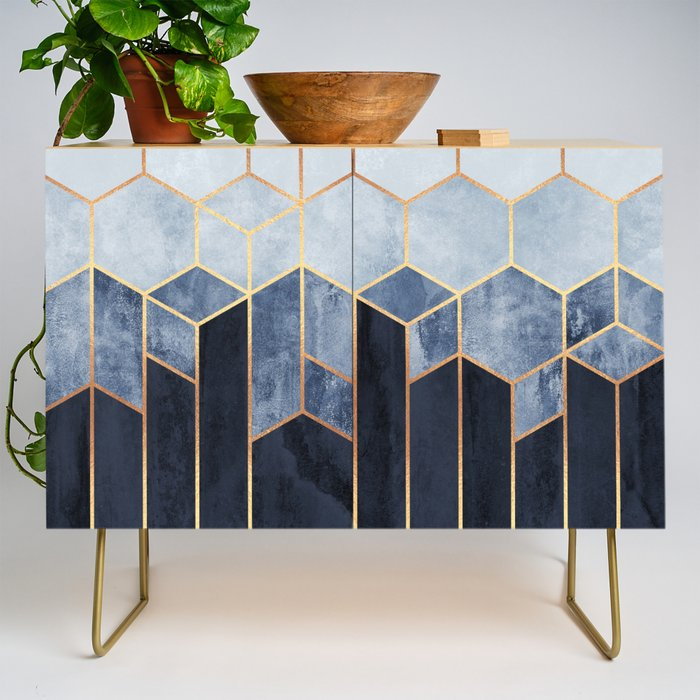 Soft Blue Hexagons Credenza