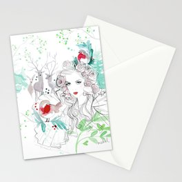 Christmas in the forest Stationery Cards