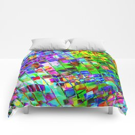 Psychedelic Planet Disco Ball Comforters