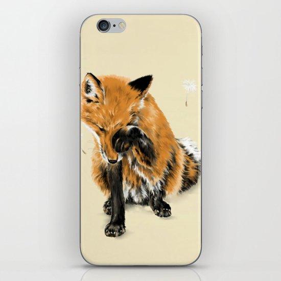 Fox and Dandelion iPhone & iPod Skin