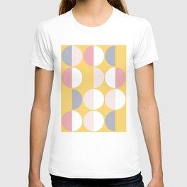 Mid Century Modern Moon & Sun Pattern 2 T-shirt