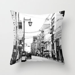 The Streets of Gion, Kyoto Throw Pillow