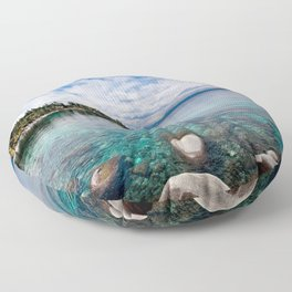 Tranquility Lake Tahoe Floor Pillow