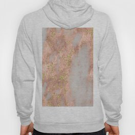 Rose Gold Marble with Yellow Gold Glitter Hoody