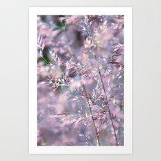 colourful grasses Art Print