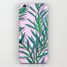Olive branches in pink and green iPhone & iPod Skin