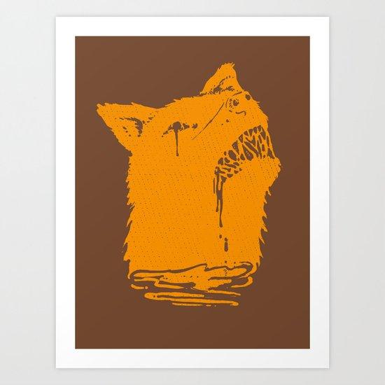 Zombie dog Art Print
