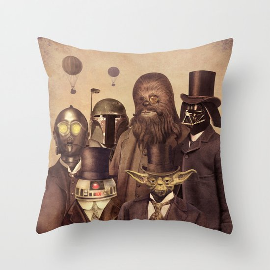 Victorian Wars  Throw Pillow