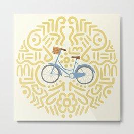 Bicycle Doodles Metal Print