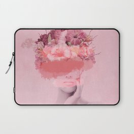 Woman in flowers Laptop Sleeve