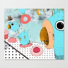 Cockatoo Making Muffins  Canvas Print