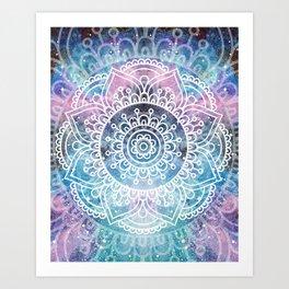 Mandala Dream   Watercolor Galaxy Painting Art Print