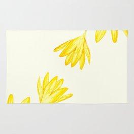 yellow botanical crocus watercolor Rug