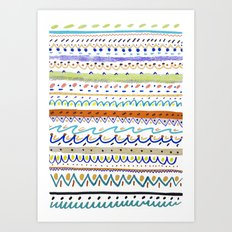 Cool Pattern. patterns, illustration, Art Print