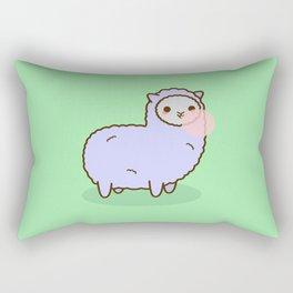 Alpaca Blowing Bubble Gum Rectangular Pillow