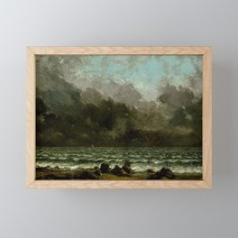 Gustave Courbet - The Sea Framed Mini Art Print