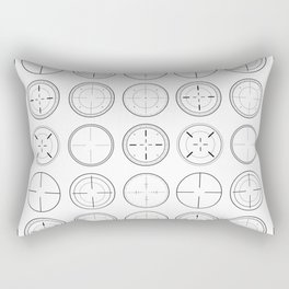 Sniper Scope Targets Rectangular Pillow