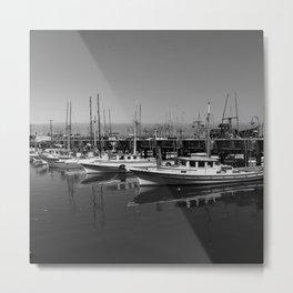 Boats At Fishermans Wharf San Francisco Metal Print