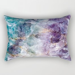 Quartz Stone - Blue and Purple Rectangular Pillow