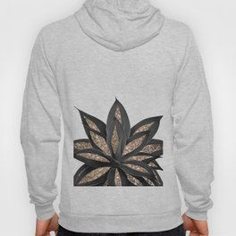 Gray Black Agave with Gold Glitter #2 #shiny #tropical #decor #art #society6 Hoody
