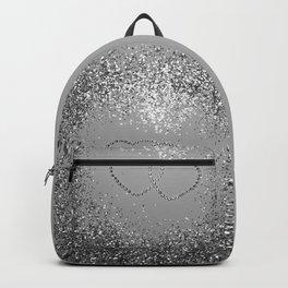 In Love Sparkling Glitter Hearts #3 (Faux Glitter) #silver #decor #art #society6 Backpack
