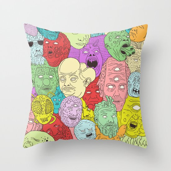 Faces of Math Throw Pillow