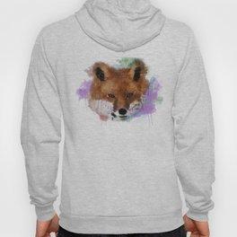 Fox Face Watercolor Hoody