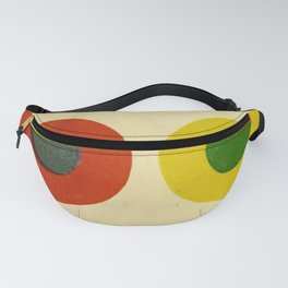 Contrast Circles Fanny Pack