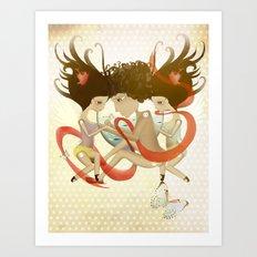Doll Sunkissed Bipolar Love  Art Print