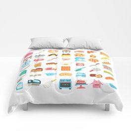 CUTE BAKERY PATTERN (CUTE CHEF BAKER) Comforters