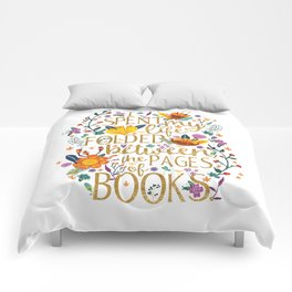 Folded Between the Pages of Books - Floral Comforters