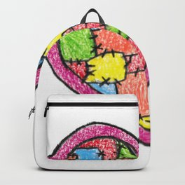 Rainbow Pride Patch Heart Backpack