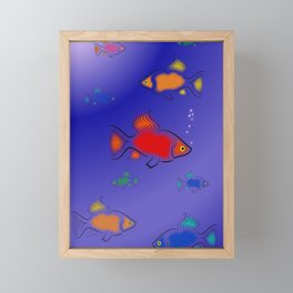 Colorful Fish Framed Mini Art Print