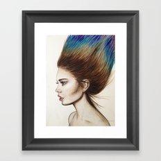 Ombre Hair Framed Art Print