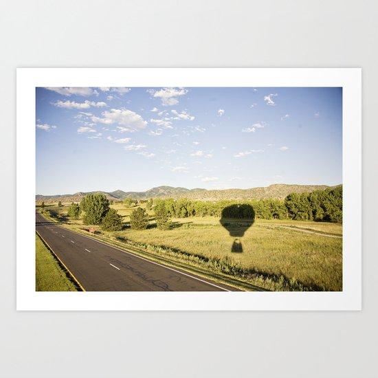 away we go::denver Art Print