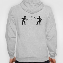 Stickfigure Snowball Fight Hoody