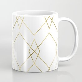 Gold Geometric Coffee Mug