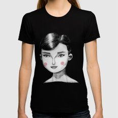 Audrey Hepburn MEDIUM Black Womens Fitted Tee