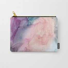 Dark and Pastel Ethereal- Original Fluid Art Painting Carry-All Pouch