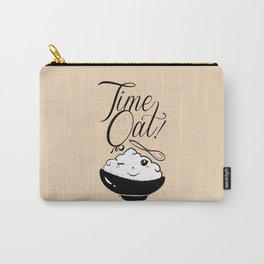 Time Oat - Funny Kawaii Oatmeal Carry-All Pouch