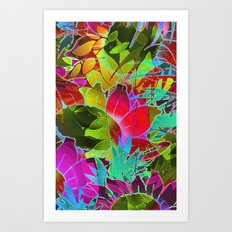 Floral Abstract Artwork G125 Art Print