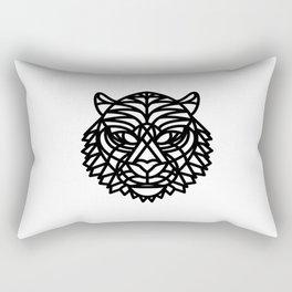 Tiger Head (Geometric) Rectangular Pillow