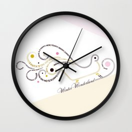 Typographic Christmas Sleigh Wall Clock