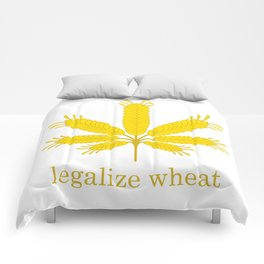 Legalize Wheat Comforters